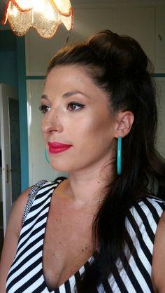 #makeup #pinup #brunette #redlips #makeupbyfilio