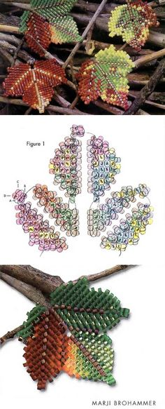 Осенние листья / Цветы / Biserok.org