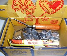 VIntage Complete Nordicware Double Rosette &Timbale Iron Mold Set