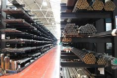 Bespoke Cantilever Racking Systems provide an ideal storage solution for long & heavy bar & tube stock. Cantilever Racks, Racking System, Project 4, Metal Bar, Storage Solutions, Metal Working, Tube, Stairs, Organization