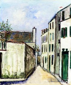 Maurice Utrillo Paris Street oil painting reproductions for sale