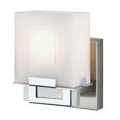 Square 1 Light Bath Sconce