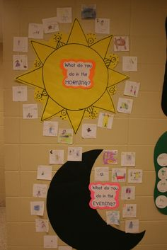 Mrs. Lee's Kindergarten: Space Centers and Activities day. & night @Jessica Lacey