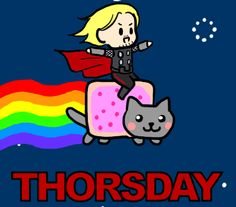 "SINGLE GIF: ""THORSDAY.""            NOTE: THIS IS THE ONLY GIF IN THE ""VISIT"" SECTION OF THIS PIN."