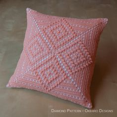Diamond Pattern Crochet Pillowcase