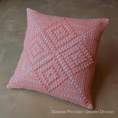 Diamond Pattern Crochet Pillowcase