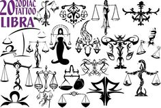 20 Libra Zodiac Tattoo Designs