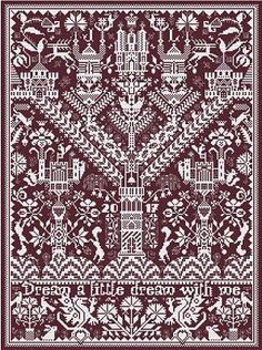 Hungarian Embroidery Stitch Long Dog Samplers ~ Castles In The Air - Cross Stitch Samplers, Cross Stitch Kits, Cross Stitch Charts, Counted Cross Stitch Patterns, Cross Stitching, Hungarian Embroidery, Embroidery Sampler, Cross Stitch Embroidery, Embroidery Patterns