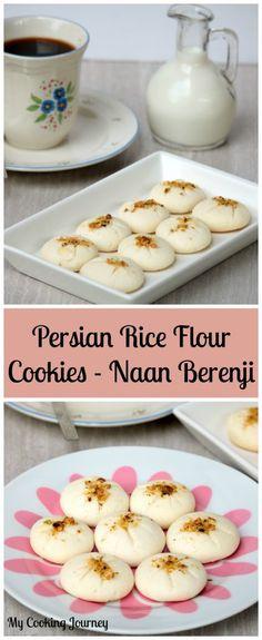 R for Rice Flour Cookies | Naan Berenji | Egg Less Persian Rice Flour Cookies