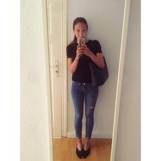 Berlin mornings... #berlin #outfit #girl #denim #jeans #black