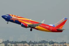 Southwest Airlines - Boeing 737-3H4 (N383SW) - takes off from LAX.