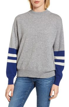 e2e7da15c22 Free shipping and returns on Velvet by Graham  amp  Spencer Colorblock  Cashmere Sweater at Nordstrom