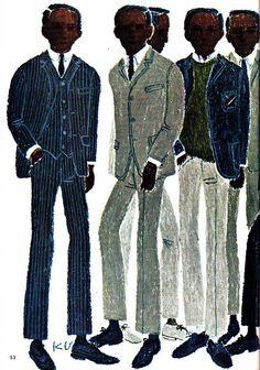 イメージ 7 Retro Fashion, Mens Fashion, Ivy Style, Suit And Tie, Black History, Illustration Art, Illustrations, Personal Style, Street Wear