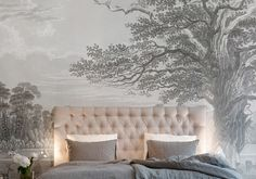 Our selection of wallpapers for a trendy bedroom - Elle Décoration - deco Diy Home Decor Bedroom, Bohemian House, Chinoiserie Chic, Trendy Bedroom, Elle Decor, Home Interior, Wallpaper S, Country Decor, Room Inspiration