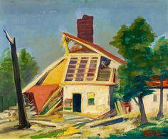 """KARL HOFER MONTAGNOLA - """"Ruin of a Mansion"""" - 1943"""