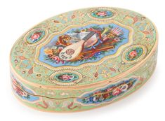 Swiss gold and enamel snuff box for the Turkish market, circa 1830