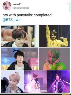 0 bts with ponytails: completed - iFunny :) Funny Instagram Pictures, Very Funny Pictures, Bts Pictures, Funny Pics, Funny Baby Quotes, Instagram Funny, V Taehyung, Bts Bangtan Boy, Jhope