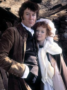 Who need's Colin Firth? Robin Ellis, here with Angharad Rees, was the original Mr Darcy when he played the Ross back in 1975