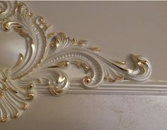Arch Molding, Moulding, Gypsum Ceiling Design, Balinese Decor, Ikea Kitchen Design, Classic Ceiling, Wall Painting Decor, Gold Leaf Art, Plaster Art