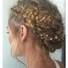 Olivia's braided updo - July 24, 2015 #hair