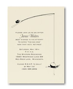 Gone Fishing  Retirement Party Invitation  Boy And Man Fishing