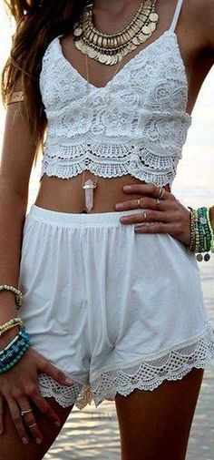 Breezy Summer White style with accessories | LBV ♥✤
