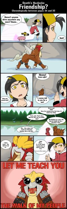 DN Bonus comic: Friendship? by Protocol00.deviantart.com on @deviantART -- AWW Entei looks so happy!