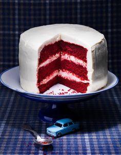 Gâteau red velvet au cacao pour 12 personnes - Recettes Elle à Table - Elle à Table