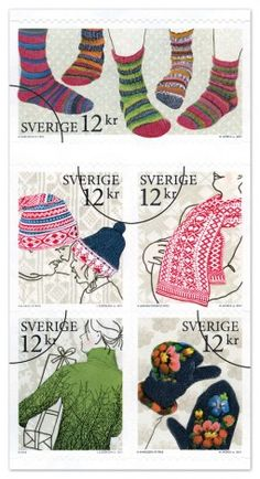 Sweden has always had interesting and fun postage stamps honoring all kinds of things- here traditional knitting. Knitting Humor, Knitting Socks, Knitting Projects, Knitting Patterns, Pocket Letter, Art Postal, Knit Art, Stamp Collecting, Postage Stamps