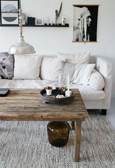 Rustikal Und Gemütlich: Sitzecke Mit Sessel Und Sofa Mit Fakefur U0026  Wohnzimmertisch Im Landhausstil #Wohnidee | A P A R T M E N T | Pinterest |  Neutral, ...