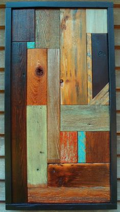 Legno del granaio recuperato Punto blu di AlleyCatDesignSt su Etsy I love the Use of colored wood.❗