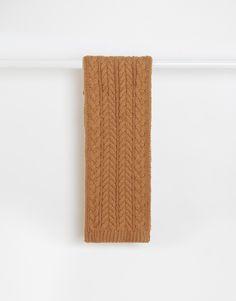 """Schal von ASOS grob gestricktes Design mit Waffelmuster gerade geschnitten Rippbündchen Maschinenwäsche 70% Acryl, 30% Wolle Länge: 180cm/71"""" Breite: 30cm/12"""""""