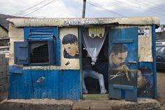 diamond barbing saloon, freetown, sierra leone • betty press
