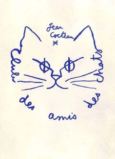 "Jean Cocteau ""I love cats because I enjoy my home; and little by little, they become its visible soul"""