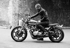 My bike is a cafe racer. i can not wait for the weather to warm up and i get that thing running!