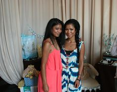Jhene and Jamila Aiko celebrating with the mommy-to-be at her baby boy's baby shower.