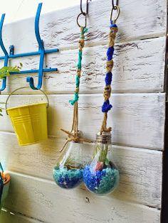 宮崎調べる子のMiyazaki Style -お金をかけずに自分らしい家で過ごす(DIY/Cooking/Gardening)-: 【#DIY】100均で装飾-電球にエアプラントをイン!-/~ベランダ~/ベランダガーデン充実計画!!