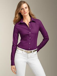 Talbots offers apparel in misses, petite, plus size and plus size petite. Fashion Group, Work Fashion, Career Wear, Sexy Shirts, Business Outfits, Work Attire, Pants Outfit, Formal Wear, Talbots
