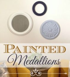 Use painted ceiling medallions to create fun and unique home decor. Follow this tutorial to see how easy it is to paint a ceiling medallion.