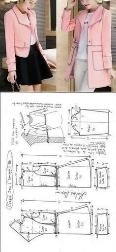 Transformable Coat Sewing Pattern - Coat Patterns - Jacket Patterns - Bolero Pattern - Skirt Patterns - Blazer Pattern - Sewing Tutorials - Sewing E-book Coat Pattern Sewing, Blazer Pattern, Coat Patterns, Jacket Pattern, Clothing Patterns, Dress Patterns, Sewing Patterns, Bolero Pattern, Sewing Coat