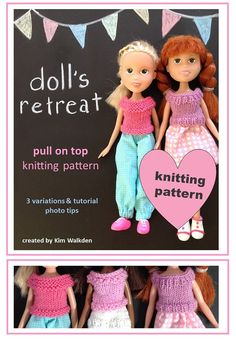 Knitting pattern top for rescued recycled made under Bratz doll clothes