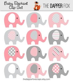 Blue and Grey Elephant Clip Art in elephant clipart baby shower collection - ClipartXtras