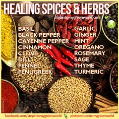 Healing spices and herbs