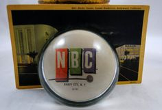 Paperweight , Radio Center Postcard , NBC , New York , Hollywood California…