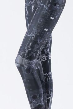 robot leggings!!!