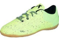 dbfac266610 adidas X 15.3 CT Boys Indoor Football Trainers - Light Green UK3