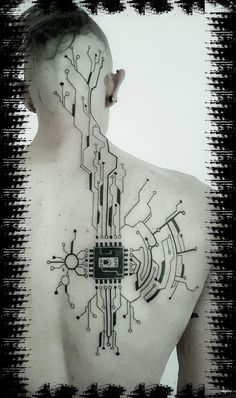 Discover recipes, home ideas, style inspiration and other ideas to try. Dreieckiges Tattoos, Bild Tattoos, Body Art Tattoos, Tattoo Drawings, Sleeve Tattoos, Cool Tattoos, Tatoos, Cyberpunk Tattoo, Art Cyberpunk