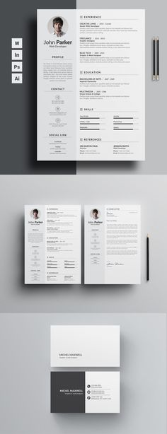 Resume Templates Job Seekers resume for those who really wants to bag the job. No exception, word version with free coverletter and a free cool business card. Download Now!