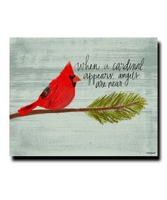 Take a look at this When a Cardinal Appears Giclée Wrapped Canvas today! Cardinal Birds, Cardinal Bird Tattoos, Christmas Art, Christmas Canvas, Xmas, Christmas Stuff, Christmas Decorations, Christmas Ornaments, Canvas Artwork