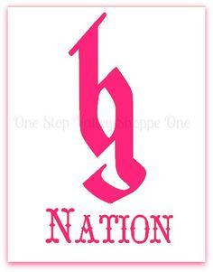 Brantley Gilbert BG Nation Logo Decal by OneStopValleyShoppe, $4.00